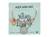Alex And Ani Words Are Powerful You Are Enough Bangle Shiny Rose Gold Bracelet Green