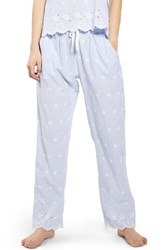Topshop Women's Embroidered Stripe Pajama Pants
