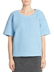 424 Fifth Boxy Blanket Knit Pullover Sky Blue