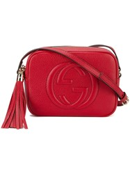 Gucci Gg Marmont Cross Body Bag Women Leather One Size Red