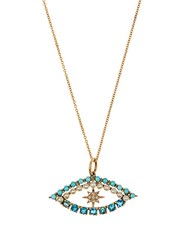 Ileana Makri Diamond Apatite Turquoise And Pearl Necklace Yellow Gold