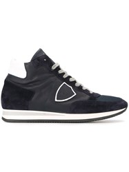 Philippe Model Panelled Hi Top Sneakers Blue