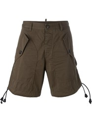Dsquared2 Cargo Shorts Brown