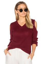 Lovers Friends X Revolve Blake Sweater Burgundy
