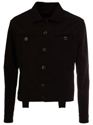 Aganovich Short Buttoned Jacket Black