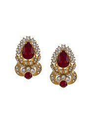Dolce And Gabbana Faux Gem Embellished Earrings Gold