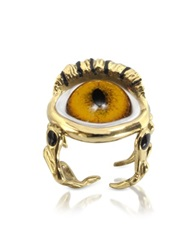 Bernard Delettrez Bronze Eye Ring