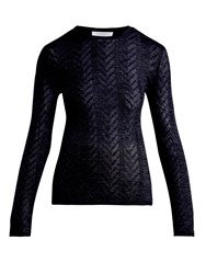 Gabriela Hearst Julia Cashmere Blend Sweater Navy