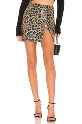 By The Way Travie Sequin Mini Skirt Brown