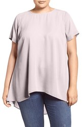 Vince Camuto Plus Size Women's High Low Short Sleeve Blouse Rosewater
