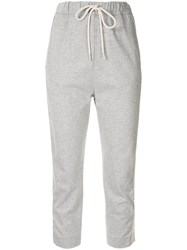 Bassike Cropped Track Trousers Grey