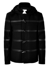 Each Other Wool Duffle Coat With Leather Trim