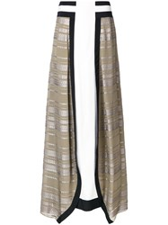 Zeus Dione Lotus Maxi Skirt Brown