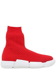 Elena Iachi 30Mm Rib Knit Sock Pull On Sneakers
