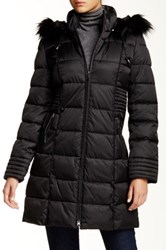 Nautica Faux Fur Trim Hooded Jacket Black