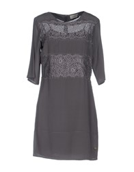 Just For You Short Dresses Grey