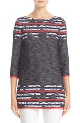 St. John Women's Collection Anguilla Floral Jacquard Sweater