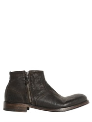 Pawelk's Lizard Embossed Leather Boots
