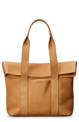 Shinola Cass Dearborn Leather Tote Beige Sand