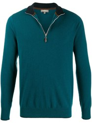 N.Peal The Carnaby Fine Knit Jumper Green
