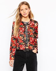 Traffic People He Loves Me Jacket In Floral Scuba Multi
