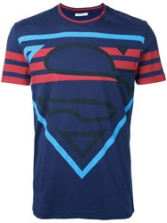 Iceberg Superman Print T Shirt Blue