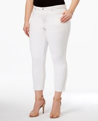 Charter Club Plus Size Bristol Tummy Control Capri Jeans Only At Macy's Bright White