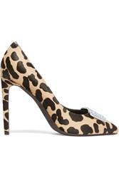 Giambattista Valli Cavlin Embellished Leopard Print Calf Hair Pumps Animal Print