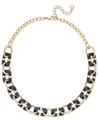 Charter Club Colored Link Statement Necklace Only At Macy's Black
