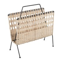 Amara Wicker Magazine Rack Beige
