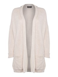 Repeat Cashmere Textured Open Cardigan Light Pink