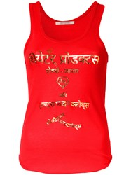 Theatre Products Metallic Lettering Print Tank Red
