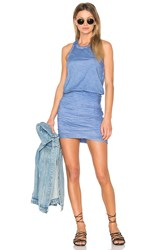 Sundry Ruched Mini Dress Blue