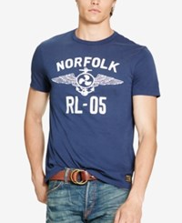 Polo Ralph Lauren Men's Custom Fit Graphic Print T Shirt Summer Navy