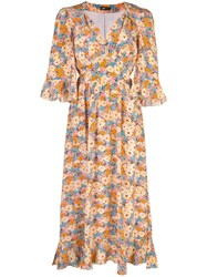 Stine Goya Evelyn Flowers Silk Dress Multicolour