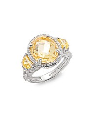 Judith Ripka Canary Crystals Sterling Silver Ring No Color