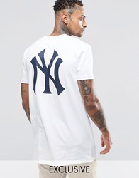 Majestic New York Yankees Longline T Shirt Exclusive To Asos White
