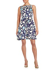 Taylor Allover Floral Dress Multicolor