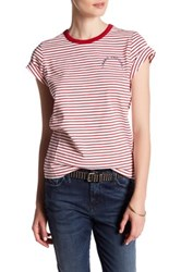 Marc Jacobs Mini Stripe Small Classic Tee Red