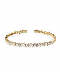 Suzanne Kalan Baguette Diamond Bangle In 18K Yellow Gold