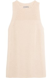 Vince Waffle Knit Cotton Top Cream