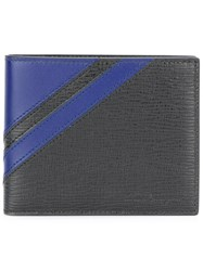 Salvatore Ferragamo Textured Stripe Bifold Wallet Black