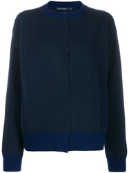 Sofie D'hoore Myrelle Colour Combo Knit Cardigan Blue