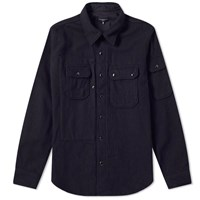 Engineered Garments Field Shirt Jacket Blue