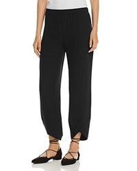 Eileen Fisher Silk Lantern Ankle Pants Black