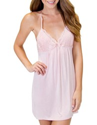 Pj Salvage Modal Basics Lined Lace Cups Chemise Pink