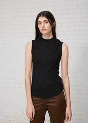 Nomia Mock Neck Muscle Tee Black