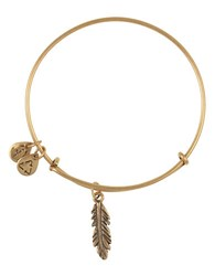 Alex And Ani Feather Charm Bangle Bracelet Gold