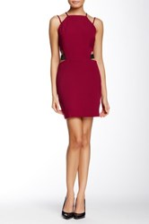English Factory Double Strap Side Cutout Mini Dress Red