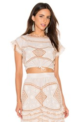 For Love And Lemons Winona Top Beige